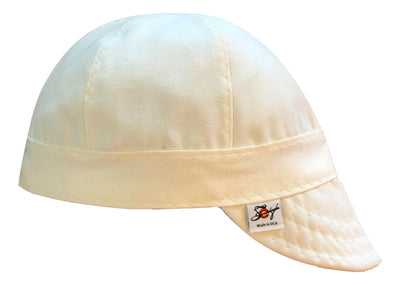 Solid White Pipeliner Prewashed Size 7 3/8 Canvas Welding Cap
