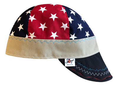 Mixed Panel Stars Size 7 1/2 Hybrid Welding Cap