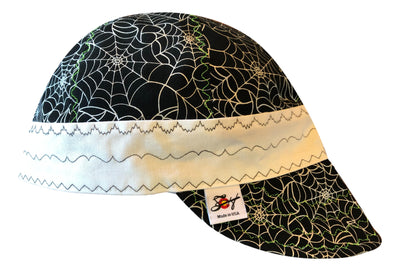 Metallic Spider Web Print UnLined Hybrid Welders Cap