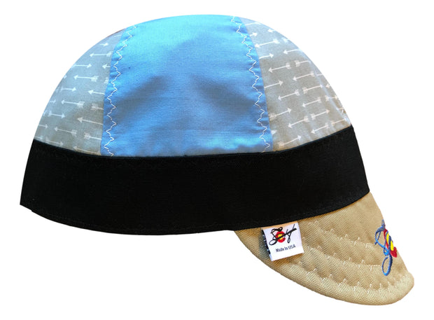 Mixed Panel Unique Embroidered Size 7 1/2 Hybrid Welding Cap
