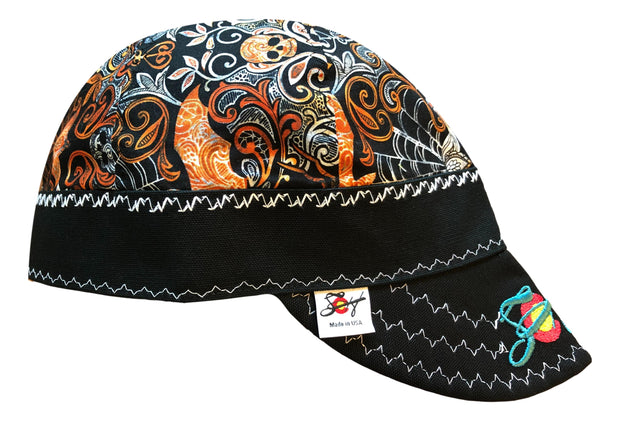 Skulls & Spiders Embroidered Size 7 1/2 Hybrid Welding Cap