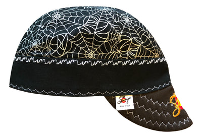 Metallic Spider Web Embroidered Size 7 1/2 Logo Hybrid Welding Cap