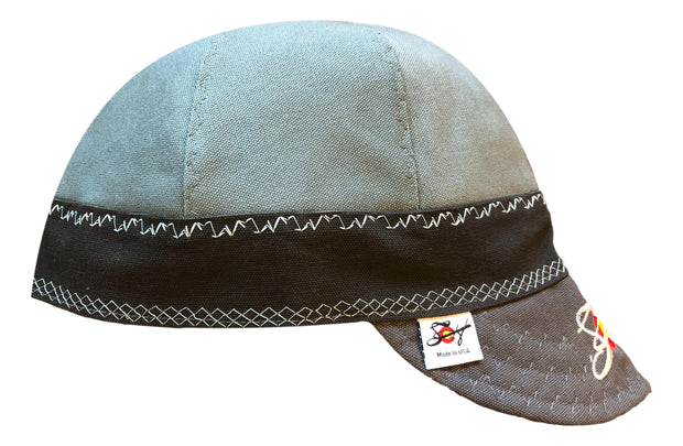 Dusty Blue Triple Play Embroidered Size 7 1/2 Prewashed Canvas Welders Cap