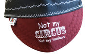 "Triple Play ""Not my Circus"" Embroidered Size 7 1/2 Prewashed Canvas Welders Cap"