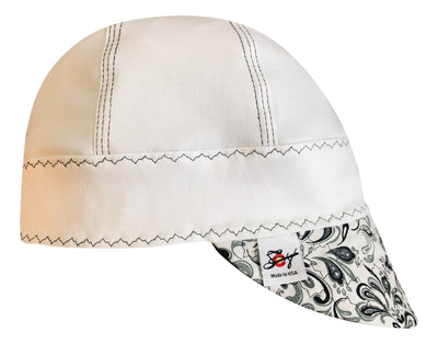 "The ""Black & White"" #SoComfort Welders Cap W/FR Bill Custom Embroidery is Available Now!"