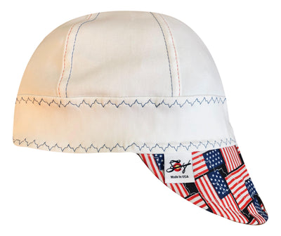 "The ""Americana"" #SoComfort Welders Cap W/FR Bill Custom Embroidery Now Available!"