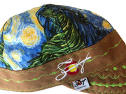 Van Gogh Inspired Starry Night Print Hybrid Welding Cap