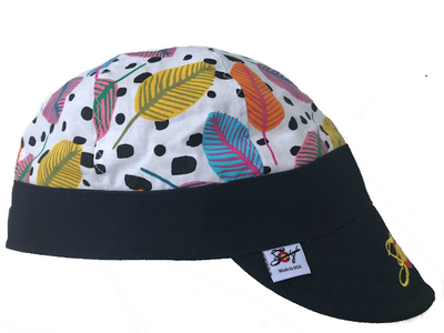 Floral Print Embroidered Soco Logo Hybrid Welding Cap
