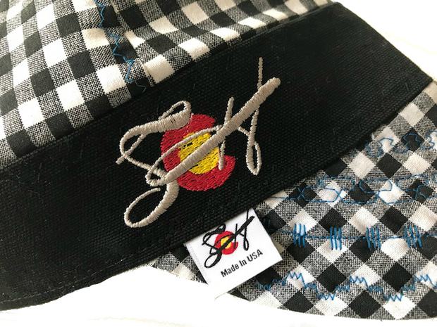 Black Checkered W/Silver Logo Embroidery Hybrid Welding Cap
