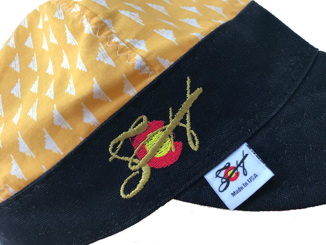 Bright Yellow Embroidered Size 7 1/4 Hybrid Welding Cap