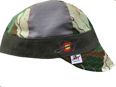 Mixed Panel Camo Embroidered Size 7 1/4 Hybrid Welding Cap