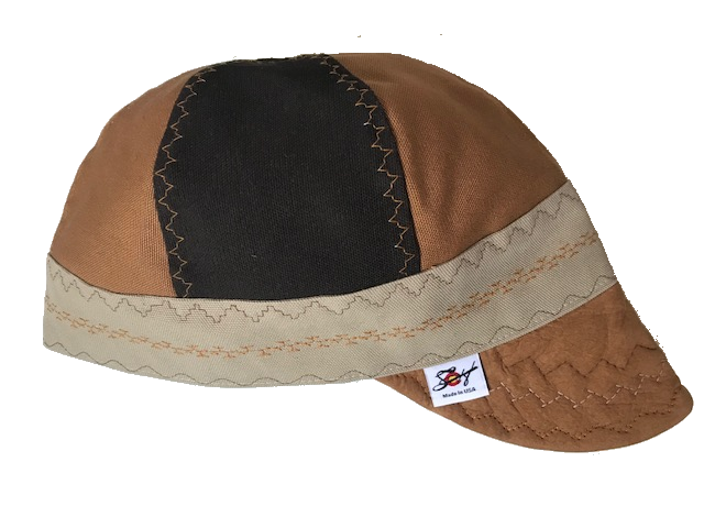 Triple Play ⭐️1-of-a-Kind⭐️ Leather Bill Canvas Size 7 1/2 Prewashed Welding Cap