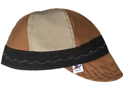 Triple Play Leather Bill Canvas Size 7 1/2 Prewashed Welding Cap