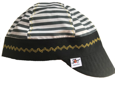 🚨 Prison Stripes🚨Hybrid Welding Cap
