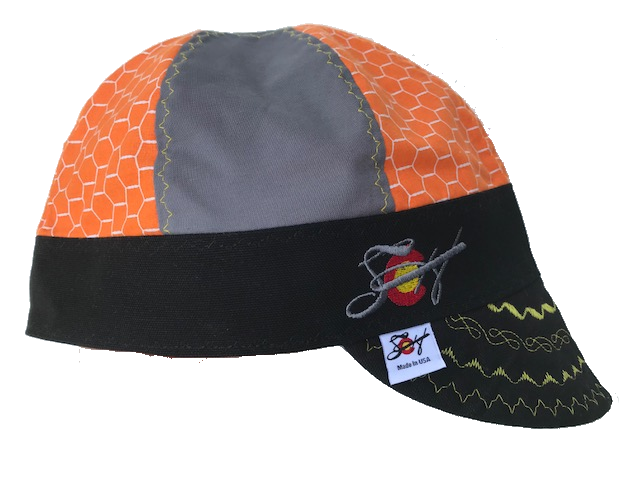 🍊 Orange Honeycomb🍯 Print Mixed Panel Hybrid Welding Cap