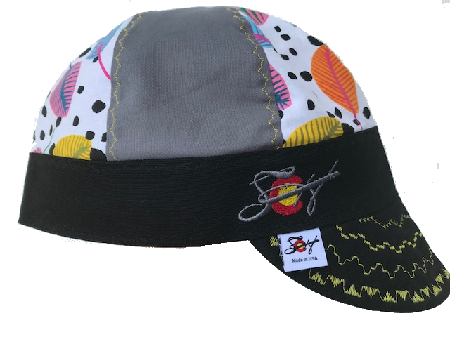 🏵Bright Leaf Print🏵 Mixed Panel Hybrid Welding Cap