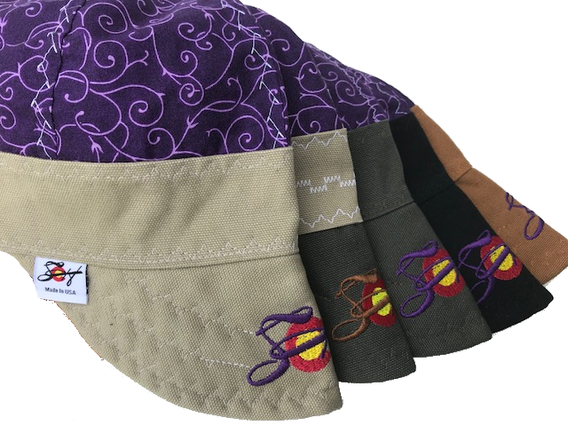 🌿Purple Vines🌿 W/ SoCo Embroidered Bill Size 7 1/4 Hybrid Welding Cap *Choose your Canvas Color*