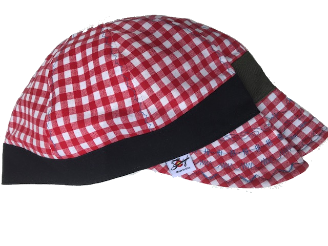 Simple Checkered 🐜 Hybrid Size 7 1/4 Welding Cap