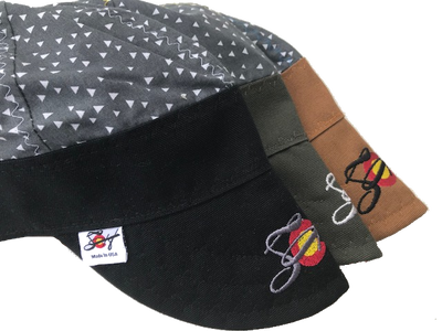 Grey Triangles Hybrid Welding Cap *Choose your Canvas Color*
