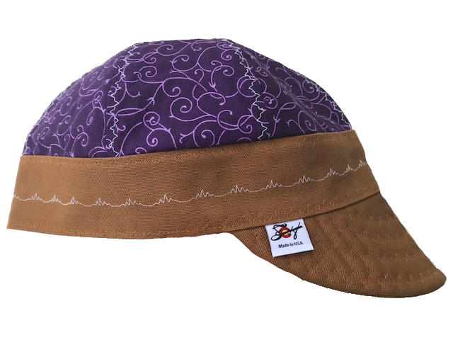 🌿 Purple Vines Size🌿 7 1/4 Hybrid Welding Cap