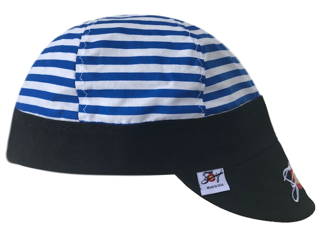 Striped Embroidered Hybrid Welders Cap *Choose your Canvas Color*