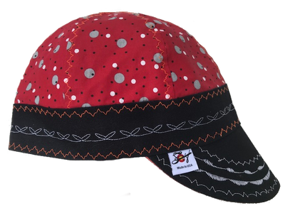 🔴⚪️   Red Dotted 🔴⚪️ Hybrid Size 7 1/4 Welding Cap