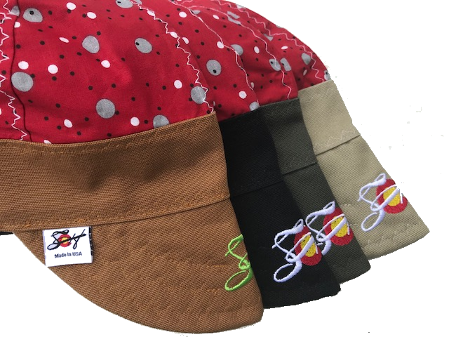 🔴⚪️   Red Dotted 🔴⚪️  Hybrid Welding Cap *Choose your Canvas Color*