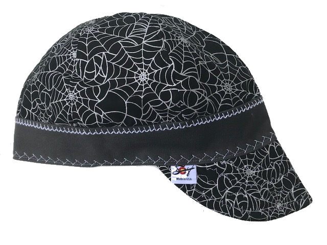 Killer Metallic Spider Web Hybrid Welding Cap