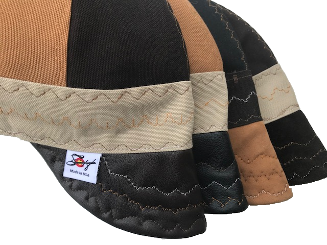 "Leather Bill ""What The Flux"" Triple Color Size Prewashed Canvas Welding cap"