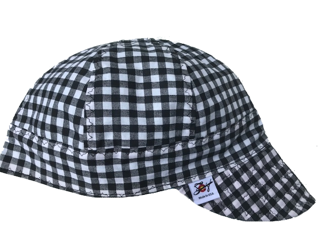 Black Checkered Size 7 1/4 Cotton Welding Cap