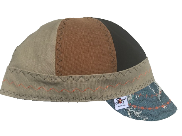 Tri-Color Size 7 5/8 Prewashed Welding Cap