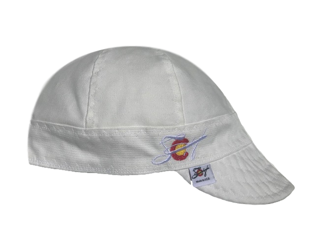 Solid ⚪️ White⚪️ Canvas Embroidered Prewashed Welders Cap