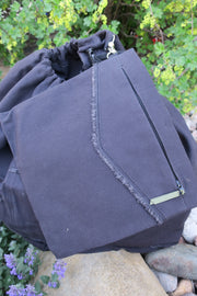 Canvas Expandable Laundry Bag Built to LAST!! 5 Colors available