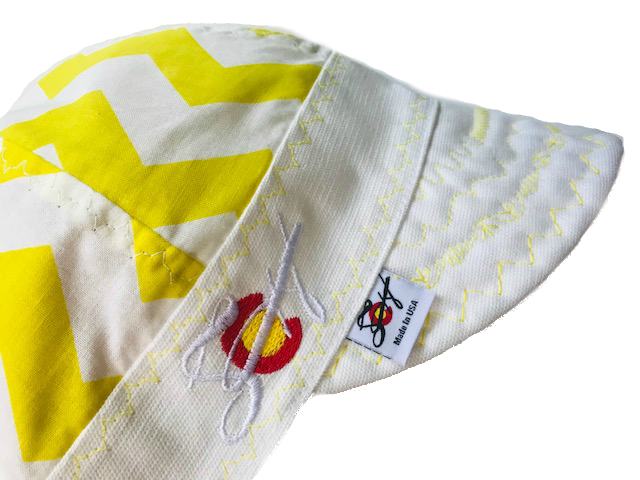 ☀️  Sunshine Yellow  🌕  Hybrid Embroidered Chevron Welding Cap