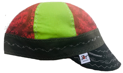 Neon & Red Mixed Panel Size 7 1/2 Hybrid Welding Cap
