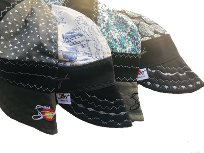 4 Pk. Unique Mixed Panel Size 7 1/2 Embroidered Hybrid Welding Cap