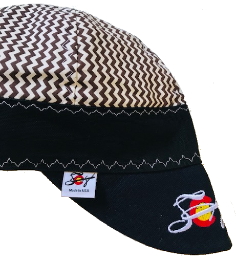 "Brown Chevron ""Charlie Brown"" Inspired Hybrid Embroidered Logo Welding Cap"