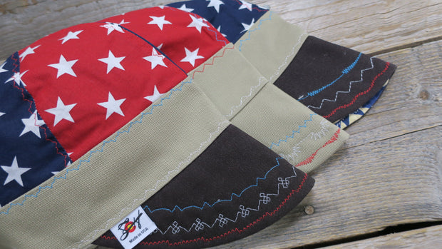 Single Patriotic Stars Size 7 1/2 Unlined Hybrid Welding Cap