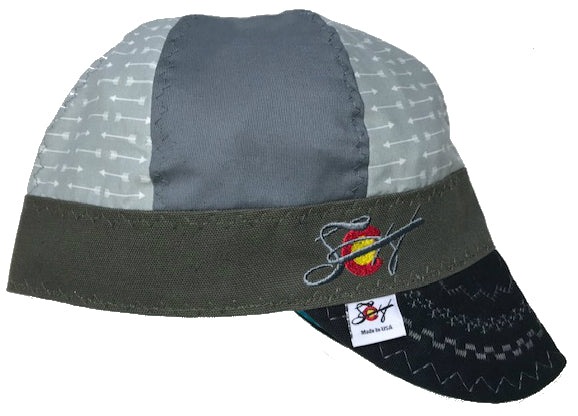Arrow Marks the Spot ⦁ ↑Mixed Panel Size 7 Embroidered Hybrid Welding Cap