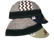 2 Pk. Hybrid Brown Embroidered Welding Caps Size 7 5/8