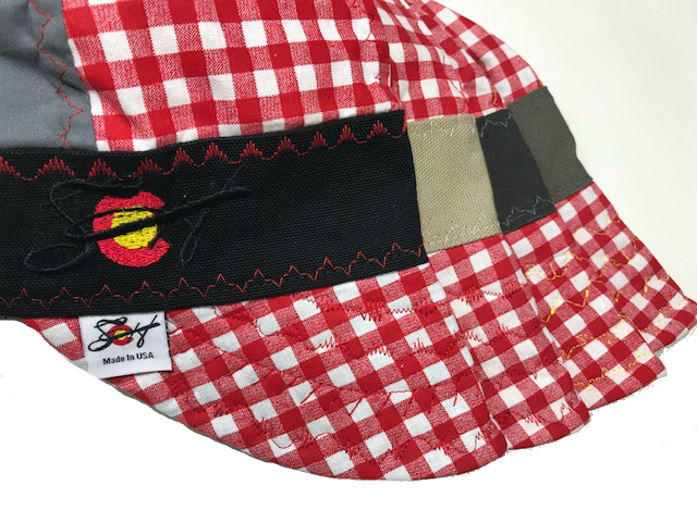 Mixed Panel Picnic Time  🐜🐜 Embroidered Hybrid Welding Cap Size 7 3/8