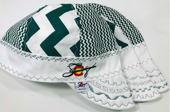 Green & White ✳️  Embroidered Hybrid Welding Cap Size 7 3/8