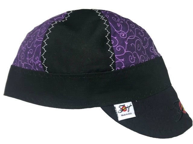 Concord Grape Vines/Mixed Panel Embroidered Hybrid Welding Cap