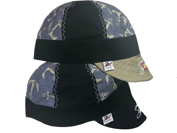 Anchors Aweigh Choose your bill color Mixed Panel Size 7 1/2 Embroidered Hybrid Welding Cap
