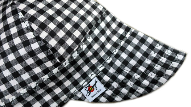 Black & White Checkered Cotton Welding Cap