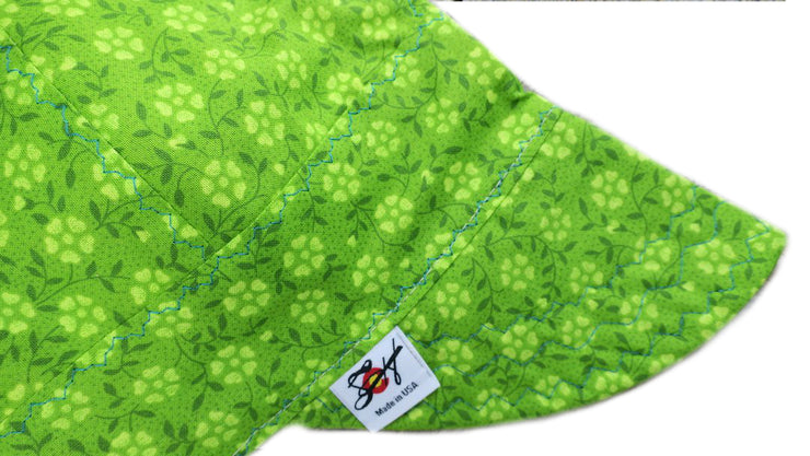 Bright Green Print Cotton Welding Cap