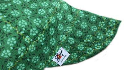 Dark Green Clover Flower Print Welding Cap