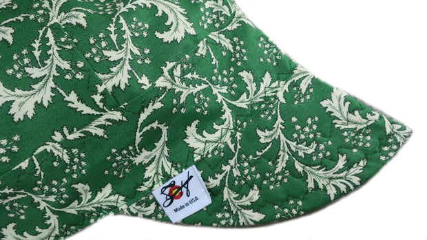 Green Vintage Floral Filigree Size 7 1/4 Cotton Welding Cap