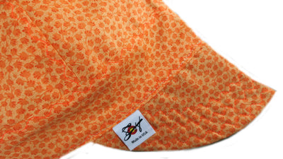 Bright Orange 🍂Fall Flowers🍂 Size 7 1/2 Cotton Welding Cap