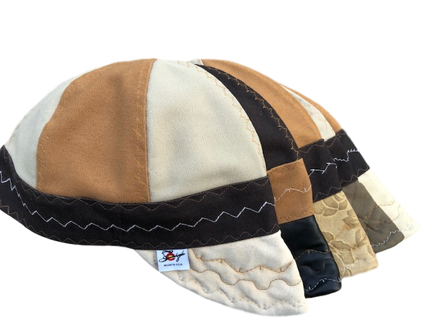 "Leather Billed ""What The Flux"" Mixed panel Canvas Prewashed Welding Cap"